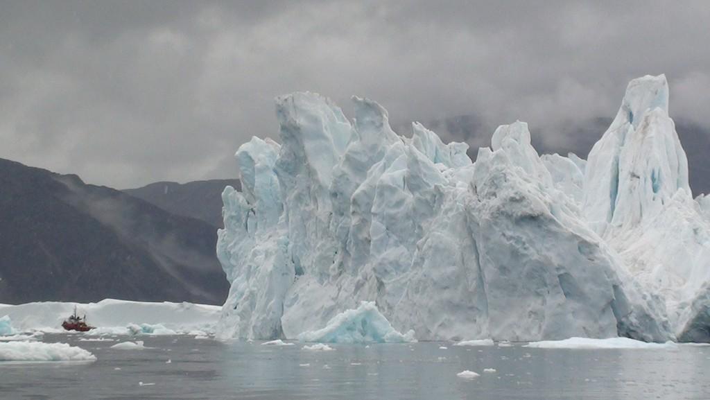 An iceberg in Sermilik Fjord.